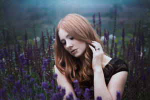 Beauty lies in lavendel by Liancary-art
