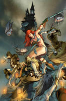 Red Sonja 75th cover by MelRubi