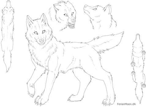 Free Feral Canine Ref Sheet by FerianMoon