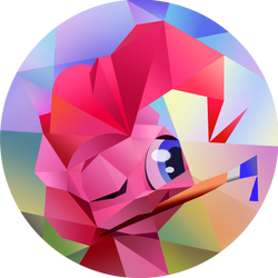 Pinkie Pie Cubism by Cannibalus