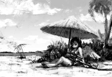 On a beach by Cannibalus