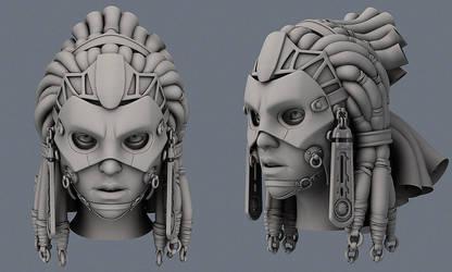 Zem female head WIP by slipgatecentral