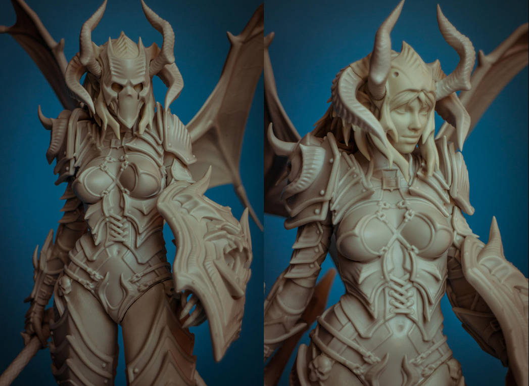 Demon Lancer Chick resin kit