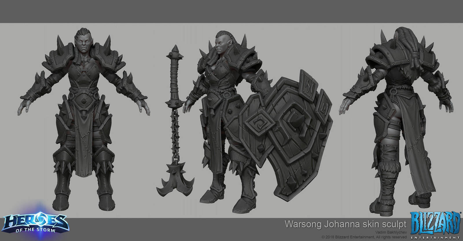 Heroes of the Storm - Johanna skin by slipgatecentral