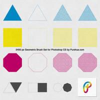 Free Geometric Photoshop Brush Set by Purshue