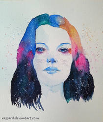 Galaxy portrait by rasgardart