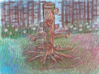 Random tree painting by Tom437