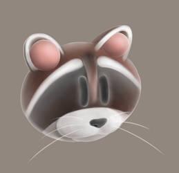 Raccon Head by Tom437