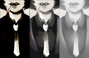 smoke and tie by veuko