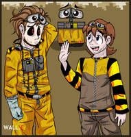 Two WALL.E's by PurpleRAGE9205