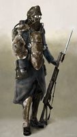 Sci-fi Rifleman by MajinMetz