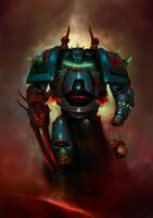 Warhammer 40k: Possessed Champion of Chaos by MajinMetz