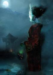 Kuchisake-onna: Slit-Mouthed Woman by MajinMetz