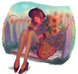 Sunflower by sil3ntgirl22