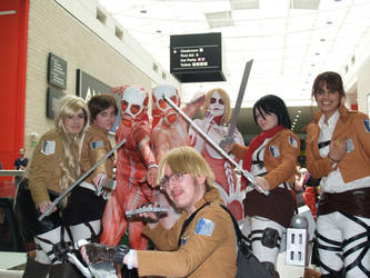 Attack on Titan groupshot by M4X1LL10N