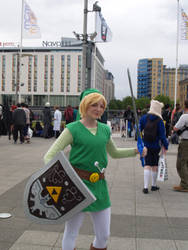 Toon Link armed and protected by M4X1LL10N