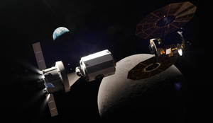 EM-3 Approaches the Deep Space Gateway (for SFI) by okan170