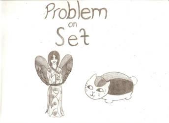 Momoka and Nyanko - Problem on Set fanart by Reiko-Akaihi