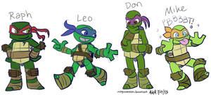 More Chibi Turtle Sketches by OrangeBlueCream