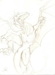 dragon sketch by newtier
