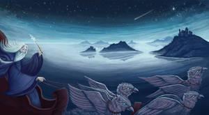 Dumbledore's Sleigh by Minaem1