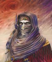Across the desert by Theocrata