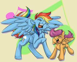 Rocking With Best Pony by CNat