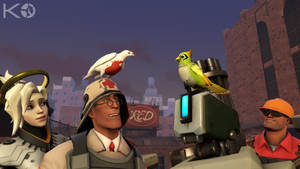 [TF2/OW-SFM] Archimedes And Ganymede by Kwarduk