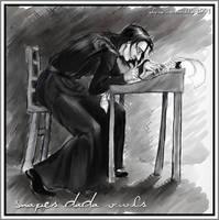 Snape's DADA OWL by elysepatrice