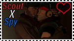 Scout X Spy Stamp by Left4Dead2fan13