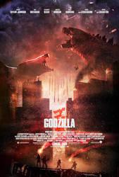 Godzilla (2014) - Muto Battle Poster by CAMW1N