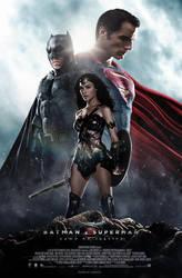Batman V Superman - Trinity Poster C by CAMW1N