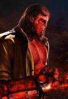 David Harbour as Hellboy (2018) - Poster 1 by CAMW1N