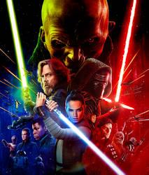 Star Wars: The Last Jedi (2017) Fan Poster by CAMW1N