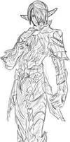 Dark Elf Sketch by AndrewBadger