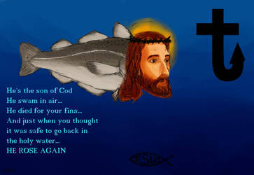 Jesus Fish bites back by Yuiru