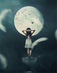 I am the moon by kimoo0