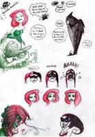 batman doodles by chlove-art