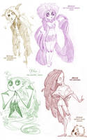 Old OCs wheeee by chlove-art