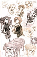 tgcww sketches by chlove-art