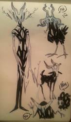 demon-ish sketchies by chlove-art