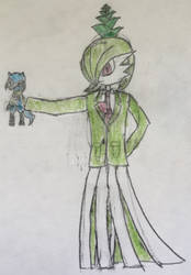 Me Again (Gardevoir form - Wearing Suit) by PinelopiKirliaGirl