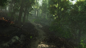 Forest (3D render) by Hexalyse