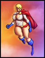 BBW Powergirl Colab. COLORED by MrLively