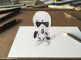 3D Scout Trooper drawing by BikerScout