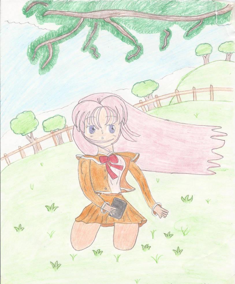 A Girl Enjoys The Spring by MeghansDreamDesigns