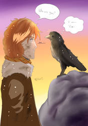 When Caleb Meets Vax The Raven by MeghansDreamDesigns