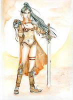 Elf warrior by ayauesca