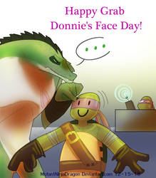 Yet another grab Donnie's Face Day by mutantninjadragon