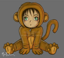 Little Proverbial Monkey by miserymirror